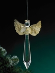 Angel with Book Glass Prism Christmas Tree Ornaments, Set of 6