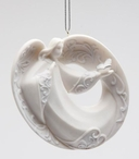 Angel with Butterfly Christmas Tree Ornaments, Set of 4