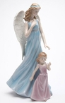 Angel with Girl Porcelain Sculpture