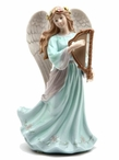 Angel with Harp Musical Music Box Sculpture