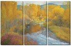 Angler's Autumn Wrapped Canvas Giclee Print Wall Art, Set of 3