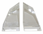 Angular Crystal Bookends, 2 Sets