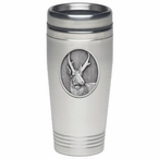 Antelope Stainless Steel Travel Mug with Pewter Accent