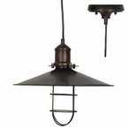 Antique Bronze Harbor Side Metal Pendant Lamp Light