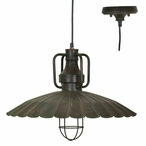 Antique Bronze Valencia Metal Pendant Lamp Light