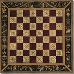 Antique Chess Gameboard Wrapped Canvas Giclee Print Wall Art