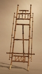 Antique Gold Bamboo Iron Easel, Set of 2