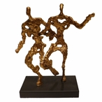 Antique Gold in Motion Iron Sculpture