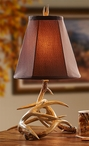 Antler Hand Painted Table Lamp with Lodge Shade