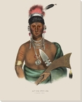 Ap-Pa-Noo-Se a Saukie Chief Native American Canvas Giclee Print