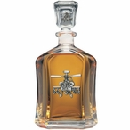 Apache Helicopter Capitol Glass Decanter with Pewter Accents