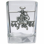 Apache Helicopter Pewter Accent Shot Glasses, Set of 4