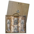 Apache Helicopter Pilsner Glasses & Beer Mugs Box Set with Pewter