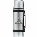 Apache Helicopter Stainless Steel Thermos with Pewter Accent