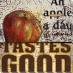 Apple a Day Wrapped Canvas Giclee Print Wall Art
