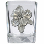 Apple Blossom Pewter Accent Shot Glasses, Set of 4