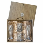 Apple Blossom Pilsner Glasses & Beer Mugs Box Set with Pewter Accents