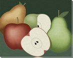 Apples and Pears Still Life Wrapped Canvas Giclee Print Wall Art