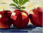 Apples on a Table Wrapped Canvas Giclee Print Wall Art