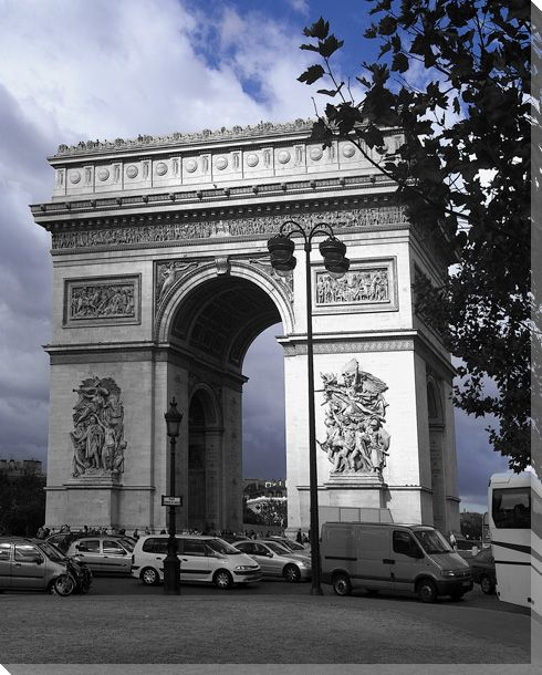 Arc de triomphe wrapped canvas giclee print wall art for Arc de triomphe wall mural