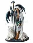 Arcana the Magi with White Tiger Sculpture by Ruth Thompson