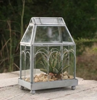 Archway Metal and Glass Terrarium
