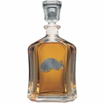 Armadillo Capitol Glass Decanter with Pewter Accents