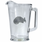 Armadillo Glass Pitcher with Pewter Accent