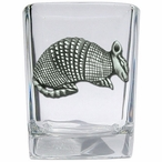 Armadillo Pewter Accent Shot Glasses, Set of 4