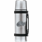 Armadillo Stainless Steel Thermos with Pewter Accent