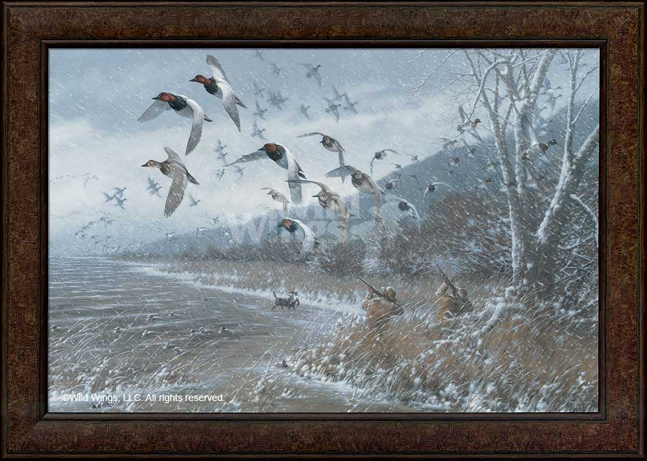 Armistice Day Hunt Flying Ducks Framed Canvas Giclee Art Print Wall ...