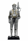Armor with Knee Length Tasset and Partisan Medieval Sculpture