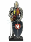 Armor with Sword and Lion on Shield Medieval Sculpture
