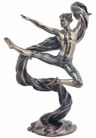 Art Dancer Lifting Right Hand and Right Leg Sculpture