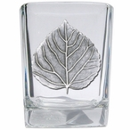 Aspen Leaf Pewter Accent Shot Glasses, Set of 4