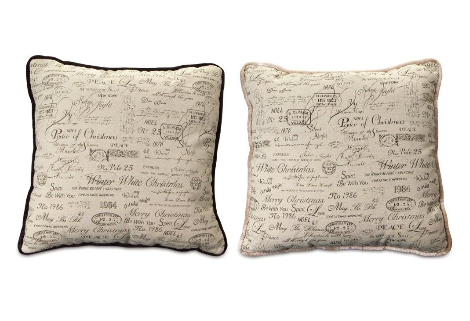 Throw Pillows With Sayings : Assorted Christmas Sayings Square Polyester Throw Pillows, Set of 2 - Decorative Accent Pillow ...