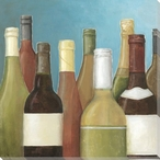 Assorted Wine Bottles I Wrapped Canvas Giclee Print Wall Art