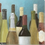 Assorted Wine Bottles II Wrapped Canvas Giclee Print Wall Art