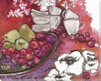 At the Top Vibrant Fruits Wrapped Canvas Giclee Print Wall Art