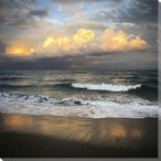 Atlantic Ocean Sunset Wrapped Canvas Giclee Print Wall Art