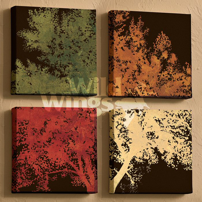 Wall Decor Prints Canvas : Autumn bloom trees wrapped canvas giclee print wall art