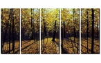 Autumn in the Woods Wrapped Canvas Giclee Print, Set of 5