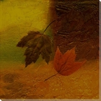 Autumn Leaves Five Wrapped Canvas Giclee Print Wall Art