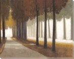 Autumn Stroll Wrapped Canvas Giclee Print Wall Art