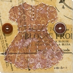 Baby Paper Doll Dress 12 Wrapped Canvas Giclee Print Wall Art
