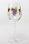 Bacchus Romanian Crystal White Wine Glasses, Set of 4