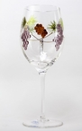 Bacchus Romanian Crystal Wine Goblet Glasses, Set of 4