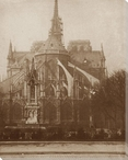 Back View of Notre Dame Cathedral Wrapped Canvas Giclee Print