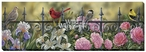 Backyard Beauties Songbirds Wrapped Canvas Giclee Print