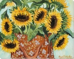 Bag of Sunflowers Wrapped Canvas Giclee Print Wall Art